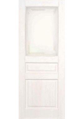 Двери из массива сосны - г.Поставы ПМЦ ДО №5 (белый воск)