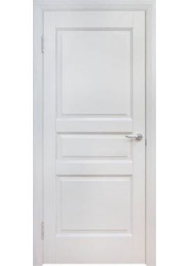 Двери из массива сосны - г.Поставы ПМЦ ДГ №5 (белый воск)