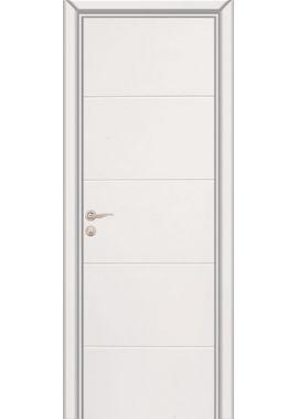 Дверь Юркас Граффити 2 ДГ (белая эмаль)
