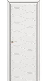 Дверь Юркас Граффити 3 ДГ (белая эмаль)
