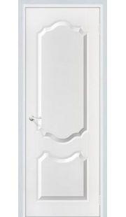Дверь МДФ - Орхидея ПГ (белоснежный)
