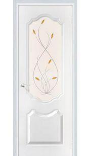 Дверь МДФ - Орхидея ПО (белоснежный)