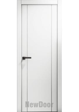 Дверь в эмали НьюДор 10 ПГ (белая)