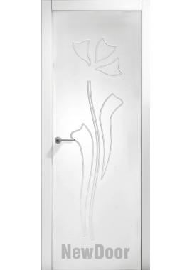 Дверь в эмали НьюДор 17 ПГ (белая)