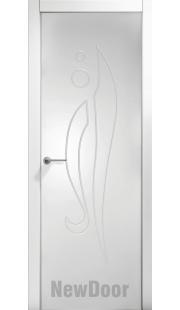 Дверь в эмали НьюДор 18 ПГ (белая)
