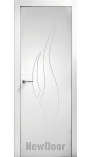 Дверь в эмали НьюДор 19 ПГ (белая)