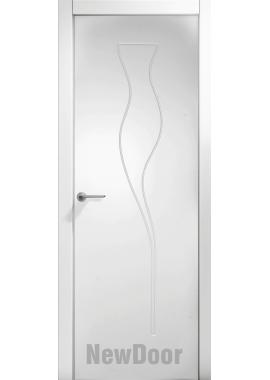 Дверь в эмали НьюДор 20 ПГ (белая)