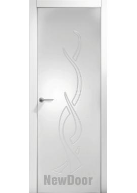 Дверь в эмали НьюДор 23 ПГ (белая)