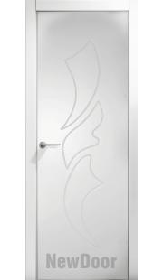 Дверь в эмали НьюДор 24 ПГ (белая)