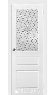 Двери Эстэль - Честер ПО (белая эмаль)