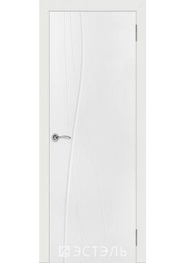 Двери Эстэль - Графити 1 ПГ (белая эмаль)