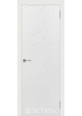 Двери Эстэль - Графити 4 ПГ (белая эмаль)