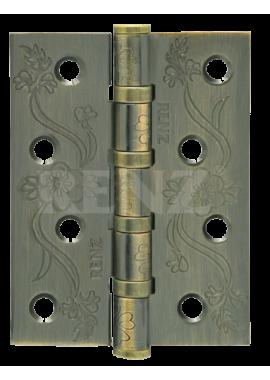 Петли универсальные RENZ - DECOR FL 100-4BB FH (бронза мат)