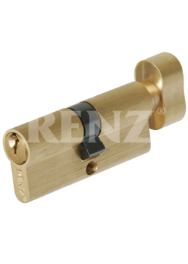 Цилиндровый механизм RENZ - CS 70-H (латунь матовая)
