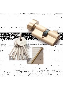 Цилиндровый механизм RENZ - CS 60-H (латунь матовая)