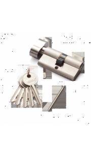Цилиндровый механизм RENZ - CS 60-H (никель)