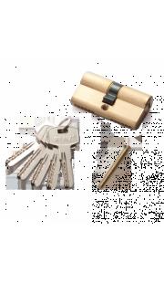 Цилиндровый механизм RENZ - CC 60 (латунь матовая)