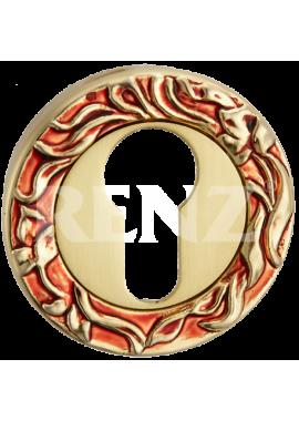Накладка на цилиндр RENZ - ET 20 (антикварное золото)
