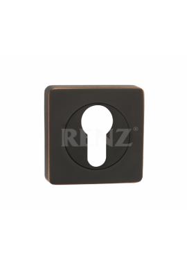 Накладка на цилиндр RENZ - ET 02 (черная бронза)