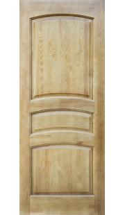 Двери из массива сосны - г.Поставы ПМЦ ДГ №16 (светлый лак)