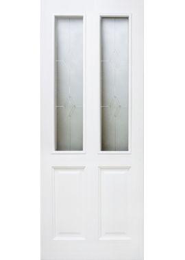 Двери из массива сосны - г.Поставы ПМЦ ДО №15 (белый лоск)