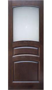 Двери из массива сосны - г.Поставы ПМЦ ДО №16 (темный лак)