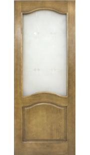 Двери из массива сосны - г.Поставы ПМЦ ДО №7 (светлый лак/мателюкс)