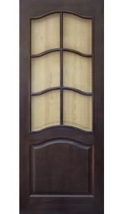 Двери из массива сосны - г.Поставы ПМЦ ДО №7 (темный лак)