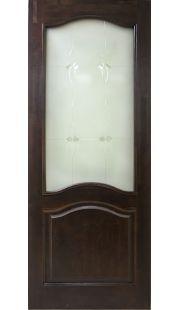 Двери из массива сосны - г.Поставы ПМЦ ДО №7 (темный лак/мателюкс)