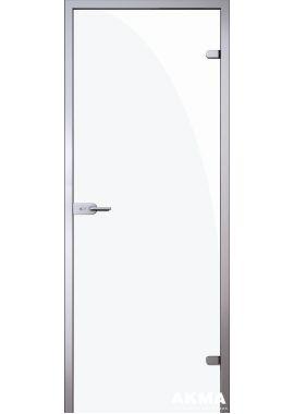 Стеклянная межкомнатная дверь Триплекс белый