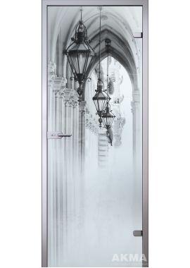 """Стеклянная межкомнатная дверь """"Satin"""" Аркада"""