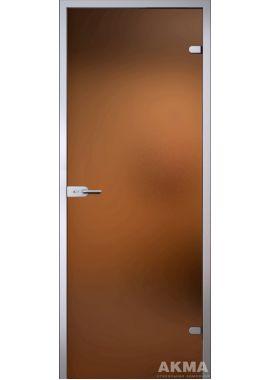 "Стеклянная межкомнатная дверь ""Light"" (матовое бронза)"