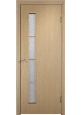 Дверь МДФ - С14 ПО (Беленный дуб)
