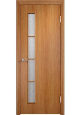 Дверь МДФ - С14 ПО (Миланский орех)