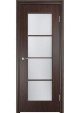 Остекленная дверь МДФ С8 (цвет: венге)