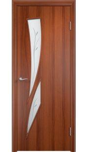 Дверь МДФ - С2(ф) ПО (Итальянский орех)