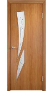 Дверь МДФ - С2(ф) ПО (Миланский орех)