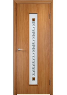 Дверь МДФ - С17 (ф) квадрат (Миланский орех)
