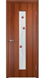 Дверь Одинцово - С17 (ф) тюльпан (Итальянский орех)