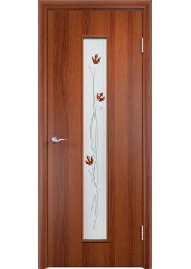 Дверь МДФ - С17 (ф) тюльпан (Итальянский орех)