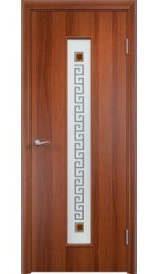 Дверь МДФ - С17 (ф) квадрат (Итальянский орех)