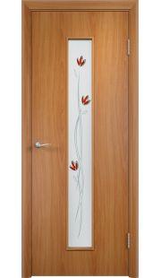 Дверь МДФ - С17 (ф) тюльпан (Миланский орех)