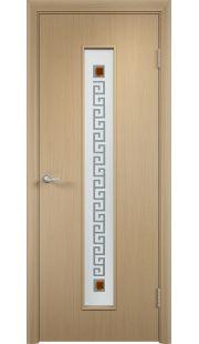 Дверь МДФ - С17 (ф) квадрат (Беленый дуб)