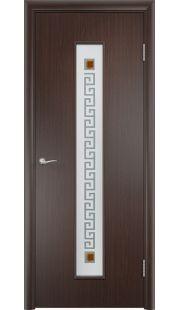 Дверь Одинцово - С17 (ф) квадрат (Венге)