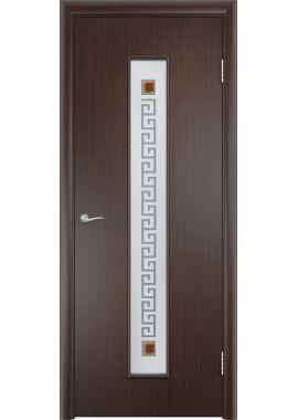 Дверь МДФ - С17 (ф) квадрат (Венге)