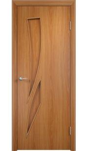 Дверь МДФ - С2 ПГ (Миланский орех)