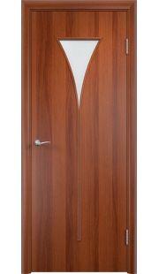 Дверь МДФ - С4 ПО (Итальянский орех)