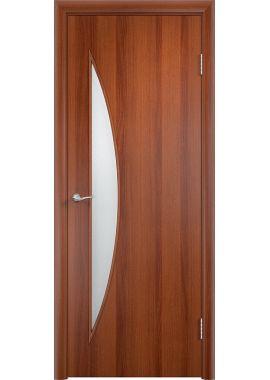 Дверь МДФ - С6 ПО (Итальянский орех)