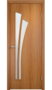 Дверь МДФ - С7 ПО (Миланский орех)