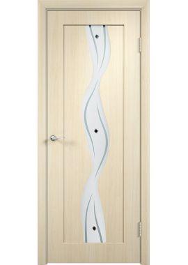 Дверь МДФ - Вираж ПО (Беленый дуб)